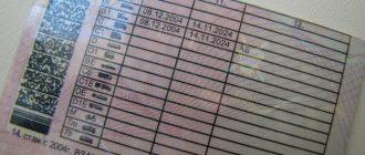 Информация на водительском удостоверении