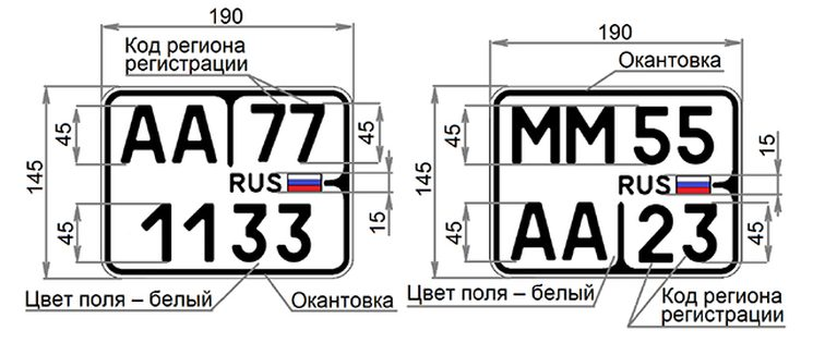Новые номерные знаки для квадроциклов и мопедов