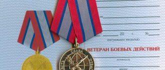 Удостоверение к медали ветерана боевых действий